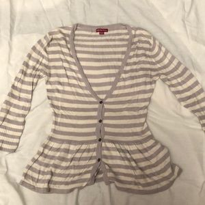 Striped buttoned sweater